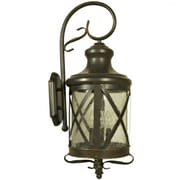 "Yosemite 28.55"" x 10.75"" 4-Light Wall Sconce W/Clear Seeded Glass Shade, Oil Rubbed Bronze"