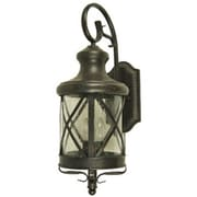 "Yosemite 23.04"" x 9"" 4-Light Wall Sconce W/Clear Seeded Glass Shade, Oil Rubbed Bronze"