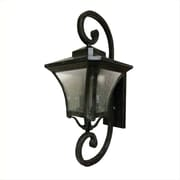 "Yosemite 27"" x 11"" x 14"" 3-Light Wall Sconce With Clear Seeded Shade, Desert Night"