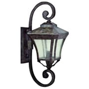 "Yosemite 22"" x 9"" x 12"" 3-Light Wall Sconce With Clear Seeded Shade, Desert Night"