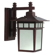 "Yosemite 11 1/2"" x 15"" x 9"" 1-Light Wall Sconce With Frosted Glass Shade, Oil Rubbed Bronze"