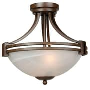 "Yosemite Sequoia 11"" x 14"" x 14"" Pendant Ceiling Light W/Frosted Alabaster Glass, Dark Brown"
