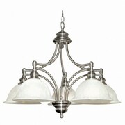 Yosemite Broadleaf 20 x 28 Ceiling Light W/Frosted White Marble Glass Shade, Nickel