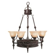 "Yosemite Isabella 40 1/2"" x 31"" Ceiling Light W/a Spanish Scalloped Glass Shade, Bronze"