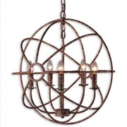 "Yosemite Shooting Star 25.6"" x 23.6"" Mini Chandelier Ceiling Light, Rustic Black"