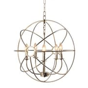 "Yosemite Shooting Star 25.6"" x 23.6"" Mini Chandelier Ceiling Light, Nickel Plated"