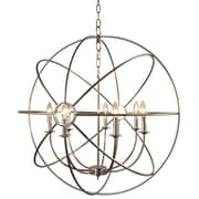"Yosemite Shooting Star 35.6"" x 32.7"" Mini Chandelier Ceiling Light, Nickel Plated"