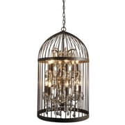 Yosemite Hutchings 38.6  x 21.7 x 21.7 Mini Chandelier Ceiling Light, Rustic Red