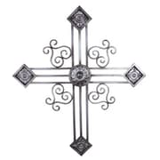 Yosemite Classic Wrought Iron Cross Accent Wall Decor, Silver