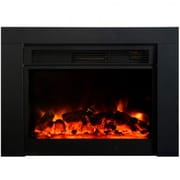 Yosemite Pandora Electric Fireplace, Black