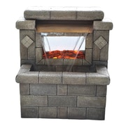 "Yosemite 23"" Faux Brick Fountain With Electric Fireplace"