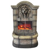 "Yosemite 27 1/2"" Faux Brick Fountain With Electric Fireplace"