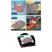 Trend Setters Dumbo Glass Print Coaster (Set of 4)