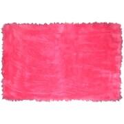 LA Rugs Flokati Hot Pink Area Rug; 3'3'' x 4'10''