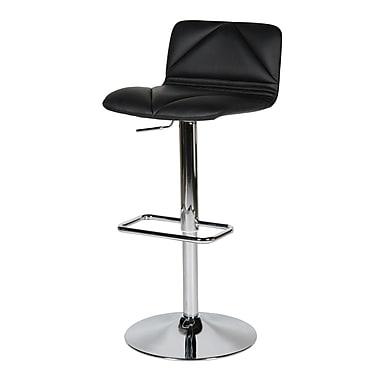 Whiteline Imports Vivo Adjustable Bar Stool with Cushion; Black