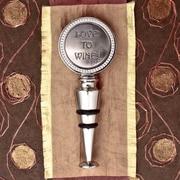Thirstystone Love to Wine! Wine Stopper