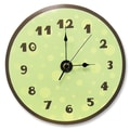 Trend Lab 11'' Polka Dots Wall Clock; Sage Green and Brown