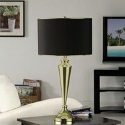 InRoom Designs Contemporary 29'' H Table Lamp with Drum Shade (Set of 2); Gold