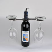 Metrotex Designs Laser Cut Oil Derrick 2-Stem Bottle Topper; Natural Steel Lacquered