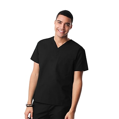 Core 1006X Unisex V-Neck Top, Black, Plus 5XL