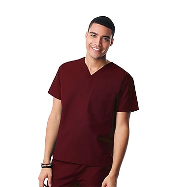 Core 1006X Unisex V-Neck Top, Wine, Plus 4XL