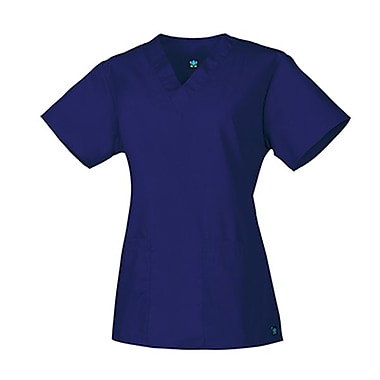 Core 1016 2-Pocket V-Neck Top, Navy, Regular XXS