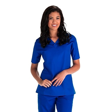Core 1016X 2-Pocket V-Neck Top, Royal, Plus 3XL