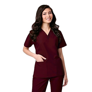 Maevn Core 1016X 2-Pocket V-Neck Tops, Wine