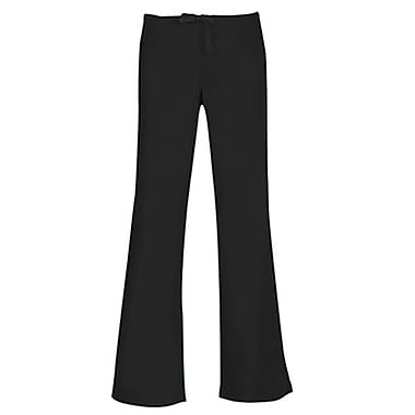 Core 9026 Drawstring & Back Elastic Flare Pant, Black, Regular L