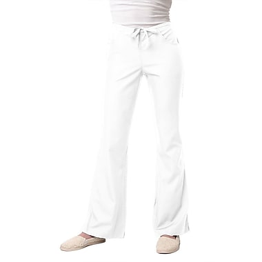 Core 9026 Drawstring & Back Elastic Flare Pant, White, Regular XL