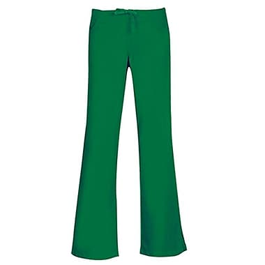 Maevn Core 9026 Drawstring & Back Elastic Flare Pants, Hunter