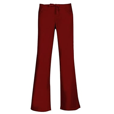 Core 9026 Drawstring & Back Elastic Flare Pant, Wine, Regular XS