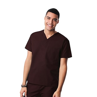 Core 1006X Unisex V-Neck Top, Chocolate, Plus 3XL