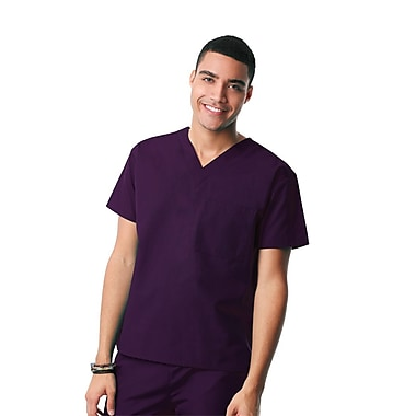 Core 1006X Unisex V-Neck Top, Purple, Plus 5XL