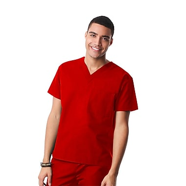 Core 1006X Unisex V-Neck Top, Red, Plus 3XL