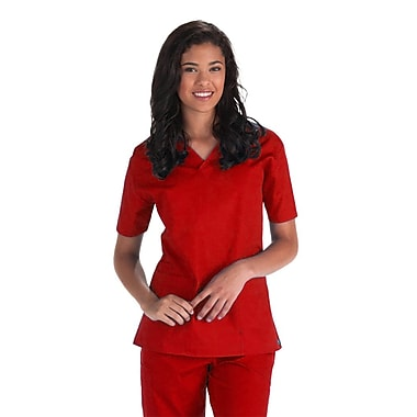 Core 1016X 2-Pocket V-Neck Top, Red, Plus 3XL