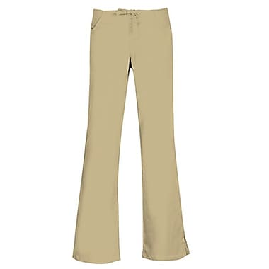 Core 9026 Drawstring & Back Elastic Flare Pant, Khaki, Regular XS