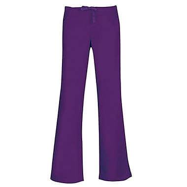 Core 9026 Drawstring & Back Elastic Flare Pant, Purple, Regular XXS