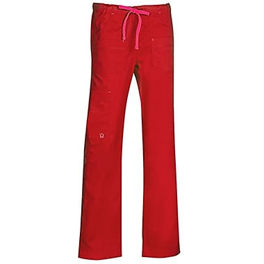 Maevn Blossom 9202P Multi-Pocket Utility Cargo Pants, Crimson