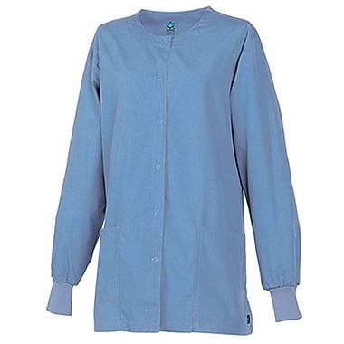 Core 8606X Unisex Round Neck Snap Front Jacket, Ceil Blue, Plus 3XL