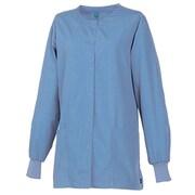 Maevn Core 8606 Unisex Round Neck Snap Front Jacket, Ceil Blue