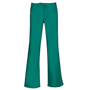 Maevn Core 9026 Drawstring & Back Elastic Flare Pants, Teal