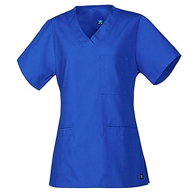 Core 1626 3-Pocket V-Neck Top, Royal, Regular L