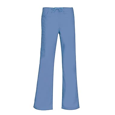 Core 9626 Straight Cargo & Black Elastic Drawstring Pant, Ceil Blue, Regular L