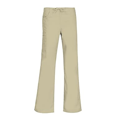 Core 9626 Straight Cargo & Black Elastic Drawstring Pant, Khaki, Regular M