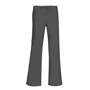 Core 9626 Straight Cargo & Black Elastic Drawstring Pant, Pewter, Regular S