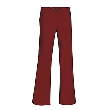 Core 9626 Straight Cargo & Black Elastic Drawstring Pant, Wine, Regular S