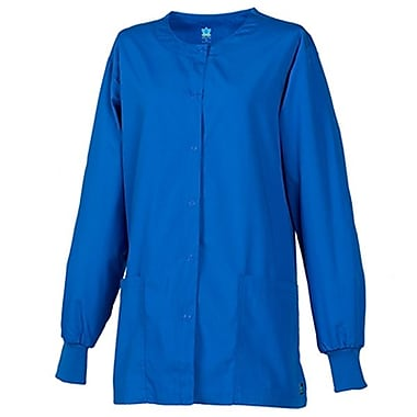 Core 8606 Unisex Round Neck Snap Front Jacket, Royal, Regular XS
