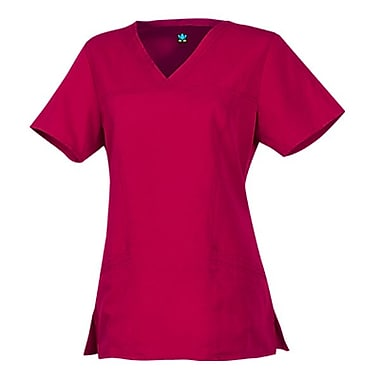 Gravity 1203 Sporty V-Neck with Princess Seaming, Plum, Regular L