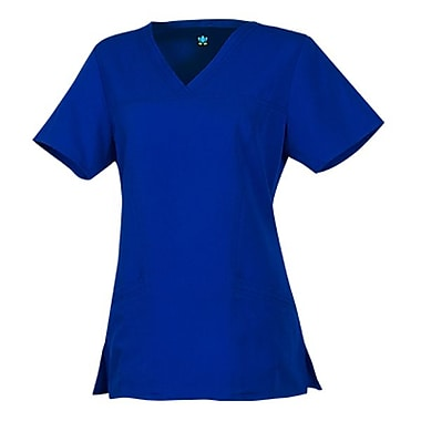 Gravity 1203 Sporty V-Neck with Princess Seaming, Royal, Regular XS